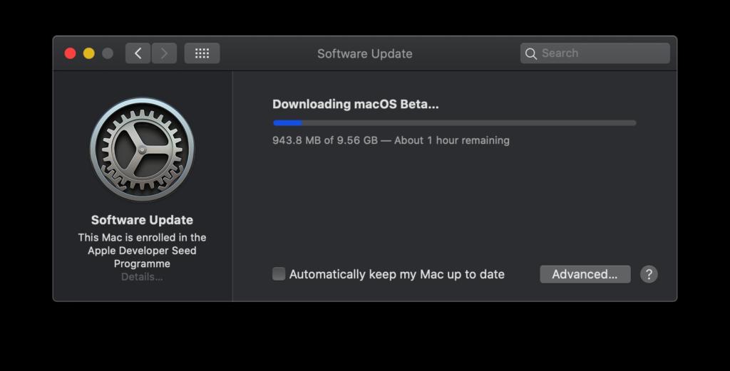 macOS 10.16 Big Sur beta profile