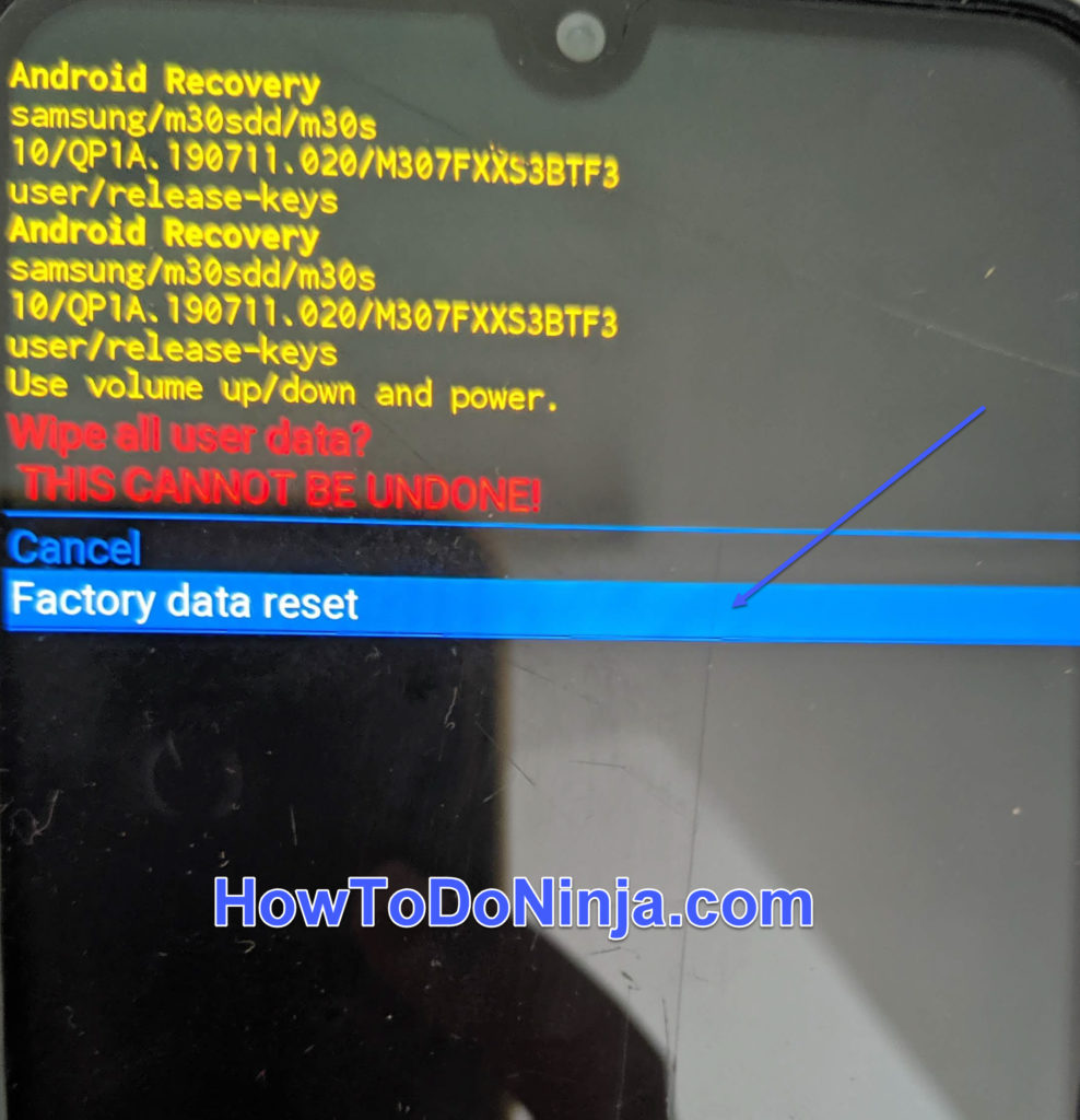 factory reset Galaxy Fold 5G