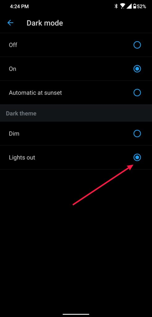 Twitter Lights out Dark Theme