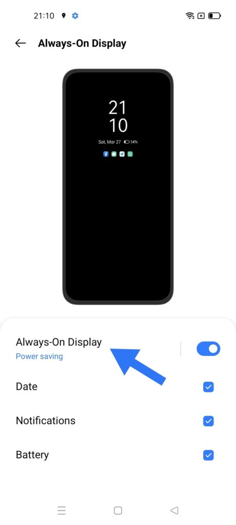 This image has an empty alt attribute; its file name is Power-Saving-modes-on-Always-On-Display-in-Realme-461x1024.jpg